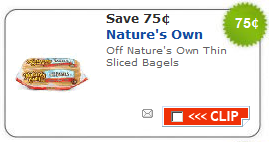 natures own bagels coupons