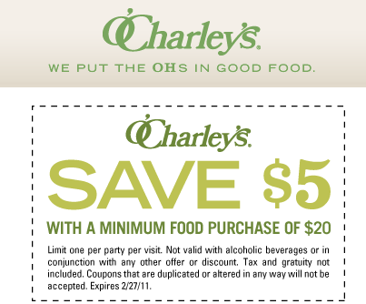 image about O'charley's 20 Off Printable Coupon identify Ocharleys discount coupons 2018 : Outrageous 8 printable coupon 2018