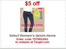 target denim coupon