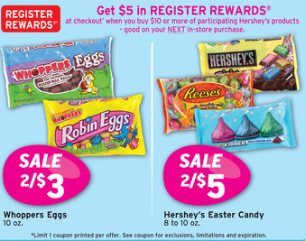 hersheys register rewards Walgreens: Update to Hersheys Easter Candy Register Rewards Offer