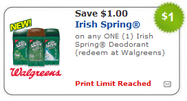 irish spring deodorant coupon