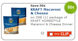 kraft macaroni cheese coupon new