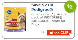 pedigree dog treat coupons