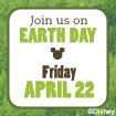 earth day freebie at Disney store