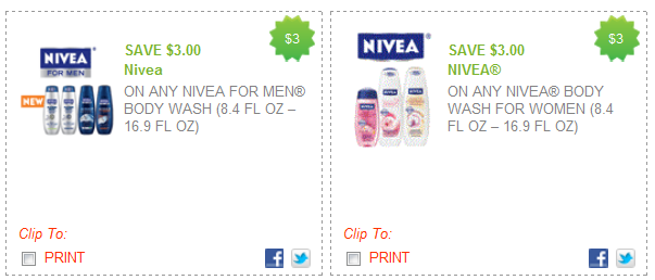 nivea body wash coupons