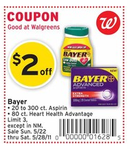 bayer coupon walgreens