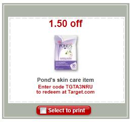 ponds target coupon
