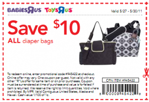 babies r us coupons 10 off one diaper bag