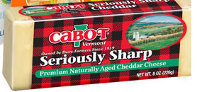 Cabot Cheese $1/1 printable coupon