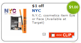 nyc cosmetics Target coupon