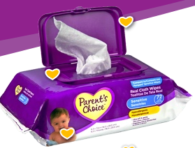 parents choice wipes sample