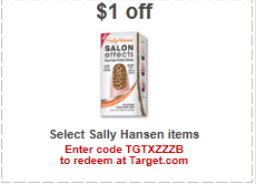 sally hansen target coupon