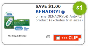 benadryl anti itch coupon