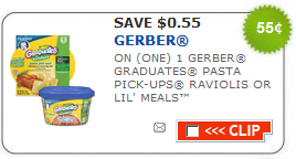 gerber graduate meals coupons