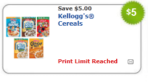 kellogg's cereal coupon new