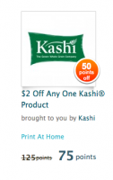 Recyclebank: $2 Kashi coupon 75 points