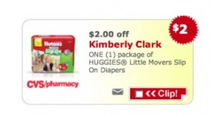 CVS COUPON HUGGIES 300x163 CVS Huggies Diaper Coupon | As low as $1.49 per Pack!