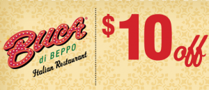buca di beppo coupon 300x129 Buca di Beppo Coupon | Get $10 off Your Order!
