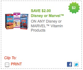 disney vitamins coupon