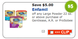 enfamil formula coupon