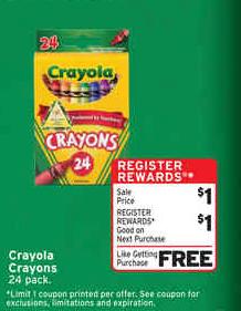 free crayola crayons walgreens