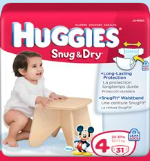 Free Sample of Huggies Snug and Dry Diapers!