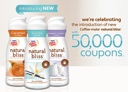 The Frugal 39 Burgher 1 1 Coffee Mate Natural Bliss Creamer Printable Coupon