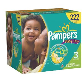 pampers baby dry Pampers Baby Dry Size 3 for 13¢ per diaper