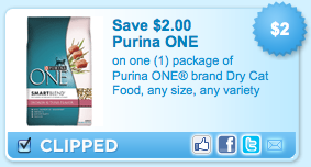 purina one coupon Purina One Coupon | Save $2 on Cat Food