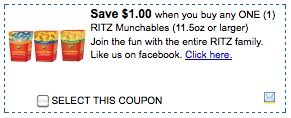 ritz crackers coupons