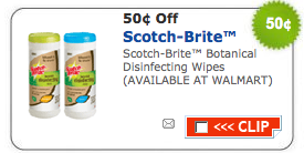 scotch brite disinfecting wipes coupon