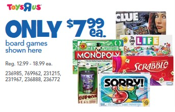 hasbro games printable coupons Hasbro Games for $3.99 at Toys R Us through 10/1