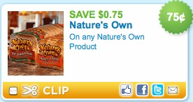 natures own bread printable coupons