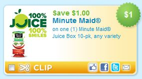 $1/1 Minute Maid Juice Boxes