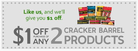 graphic about Cracker Barrel Coupons Printable identified as Cracker Barrel Cheese Printable Coupon codes Help you save $1 off 2