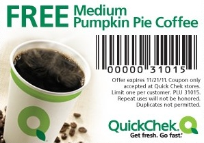 Quick-Chek-FREE-Medium-Pumpkin-Pie-Coffee