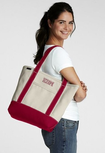 lands end canvas open totes