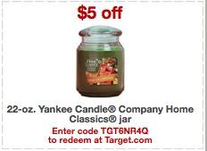 yankee candle target coupon