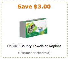 Bounty tissue coupon