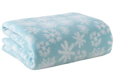 home classics snowflake fleece throws for 4 80 shipped