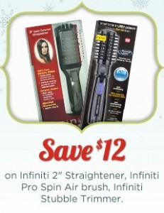 picture relating to Conair Printable Coupons named Infiniti Conair Brush Printable Coupon codes Conserve $17 at Ceremony