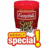 campbells soup at hand
