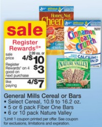 granola bars Register Rewards