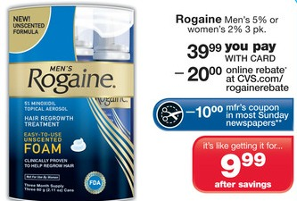 image about Printable Rogaine Coupon identify Rogaine merely $9.99 at CVS Preferred Truly feel With Economic