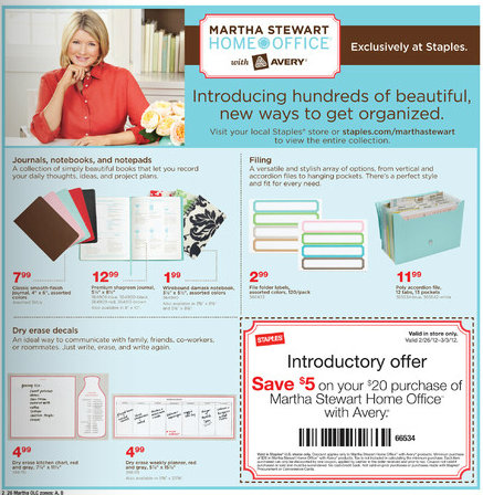 Martha stewart coupons
