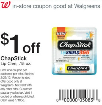 Walgreens chapstick coupon