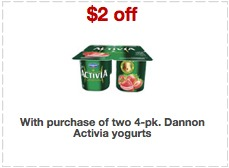 activia yogurt printable coupons