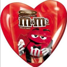 heart shaped m&ms