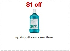 oral care printable coupons Target: Free Up&Up Dental Floss