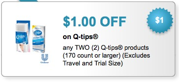 q tips printable coupons